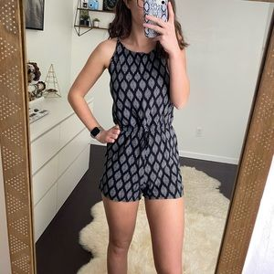 Mossimo Supply Co. Black & White Romper